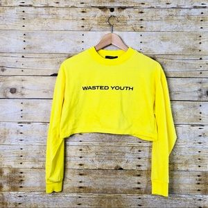 Forever 21 Yellow Wasted Youth Crop Top